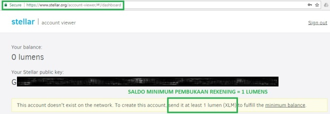 account activation 1XLM